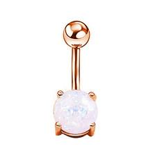 1 шт 14 г пирсинг ювелирные изделия серебряный пупок пирсинг лист ананаса сердце болтается пупка кольцо для женщин(Китай)