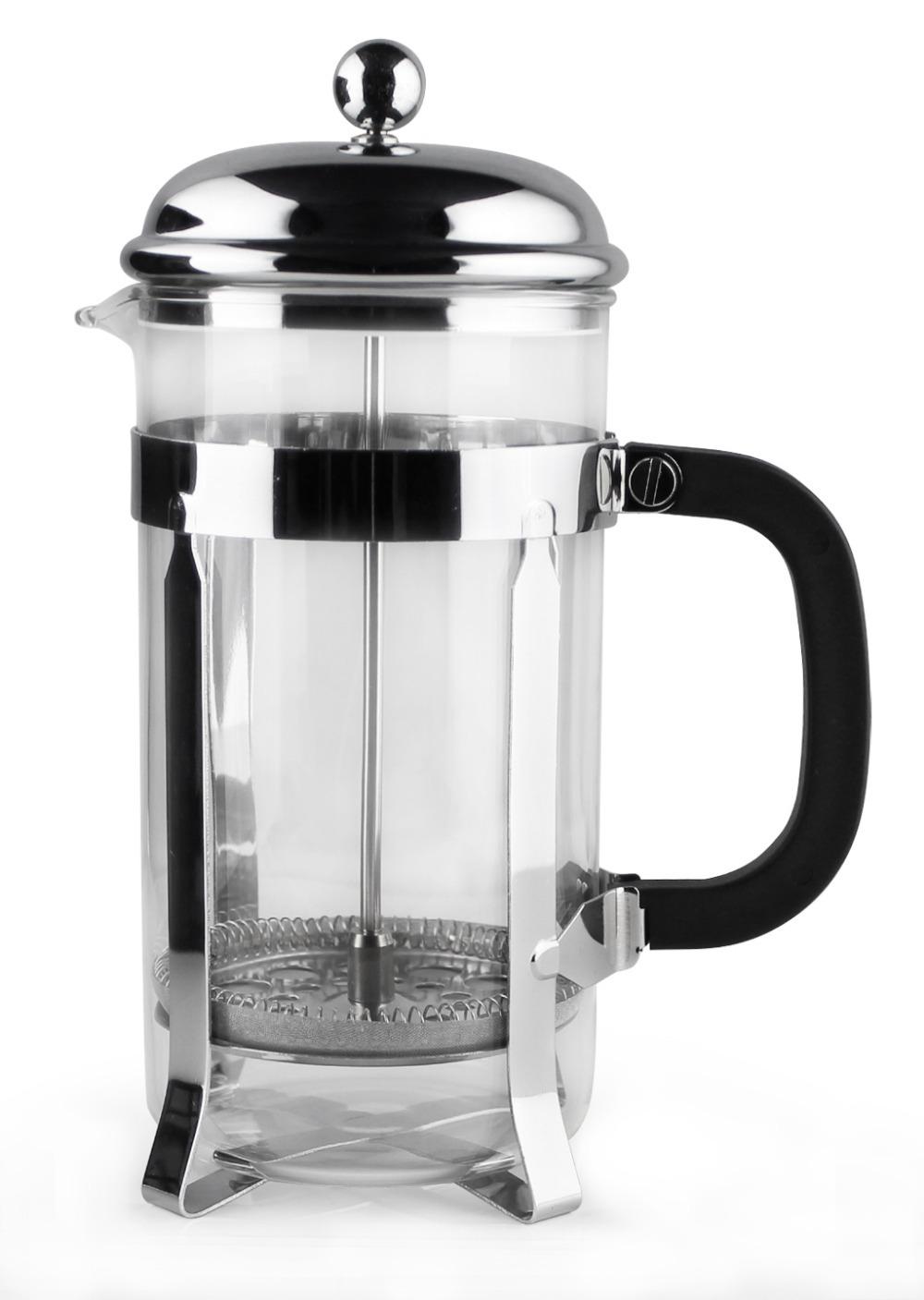 6 cup 800ml francois et mimi free shipping borosilicate glass espresso coffee french press tea. Black Bedroom Furniture Sets. Home Design Ideas