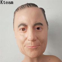 Реалистичная латексное человеческое маска, страшная полноголовая мужская маска, маскарадные костюмы для Хэллоуина, косплей, платье, платье...(Китай)