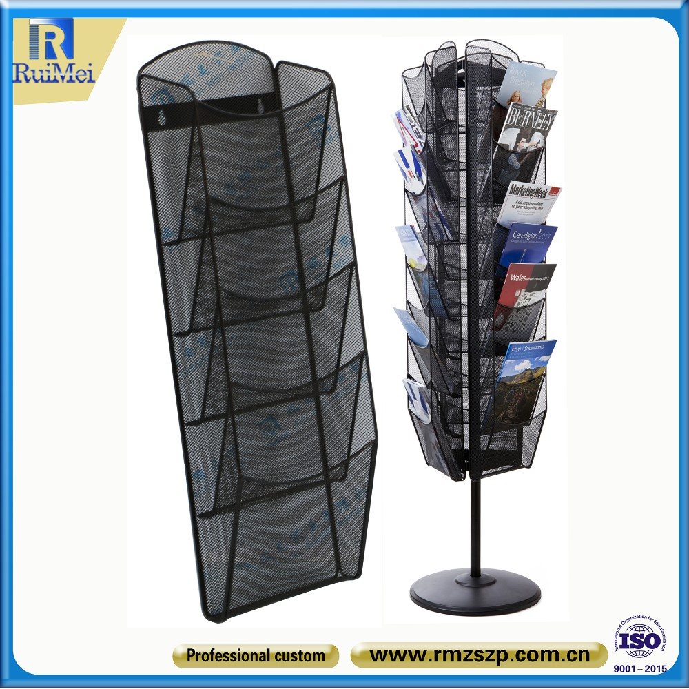 Metal Floor Stand Display Commercial Outdoor Used Magazine