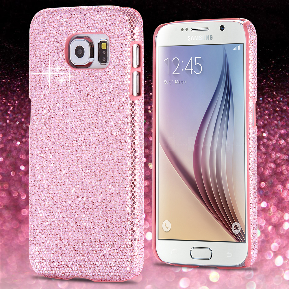 purchase cheap 5bb42 c7e3c S6 Fashion Glitter Bling Back Case for Samsung Galaxy S6 G920 Hard Plastic  UltraThin Shiny Mobile Phone Accessories Cover For S6