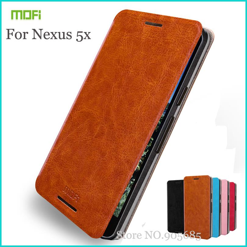 Original Mofi For LG Nexus 5X Case Hight Quality Flip Leather Stand Case For Google Nexus 5X Wallet Leather Cover