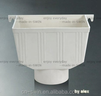 Cheap Pvc Drainage Fittings Water Bucket Square Rain Water