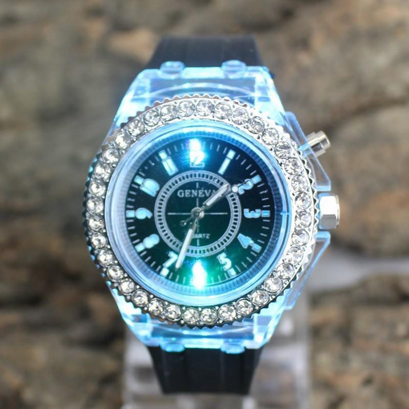 Из светодиодов relojes mujer 2015 dorados бриллиантовый браслет часы для женщин розового золота шику леди часы montre роковой нержавеющей