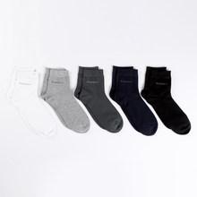 5 пар/лот, мужские носки из бамбукового волокна, Новые повседневные бизнес антибактериальные дезодорирующие Дышащие носки, мужские Компрес...(Китай)