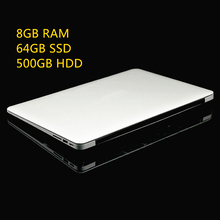 8GB Ram+64GB SSD+500GB HDD Ultrathin Quad Core J1900 Fast Running Windows 8.1 system Laptop Notebook Computer, free shipping