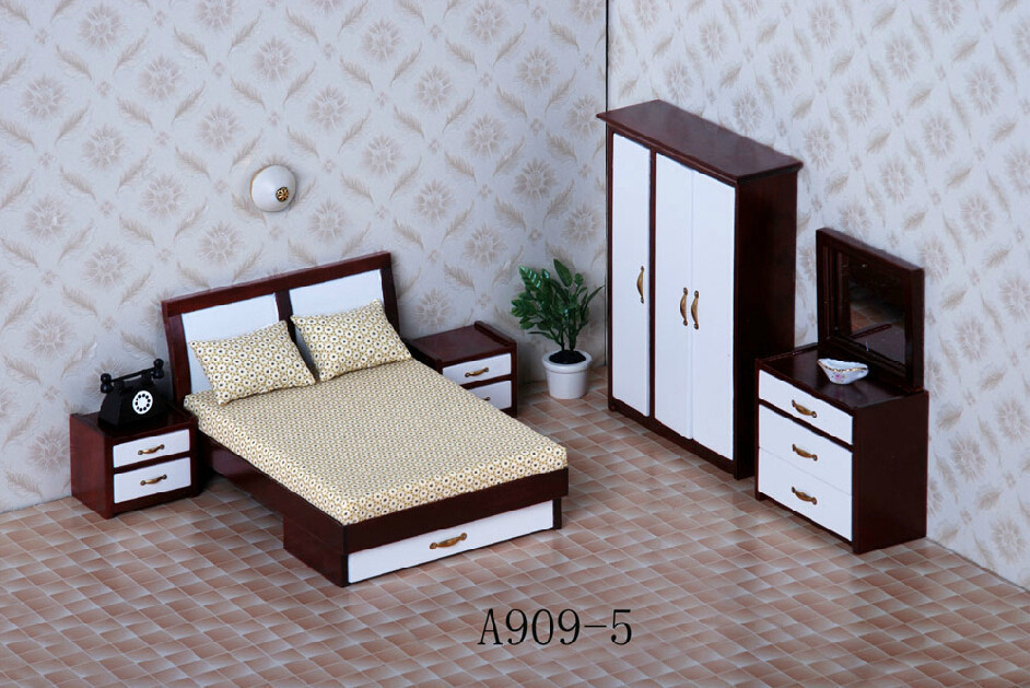 Free Shipping 1/12 Hot Sale Modern Fashion Simple Bedroom