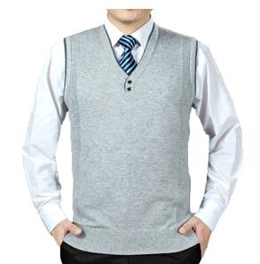 Бизнес мужской новый зимний свитер жилет сплошной цвет свитера мужская шерсти вязать v-образным вырезом кнопка жилет пуловеры мужчины