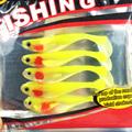 Artificial Lure 5pcs 8 5cm 5g yoyfishing Fishing Worm Swimbaits Jig Head Soft Lure Fly Fishing