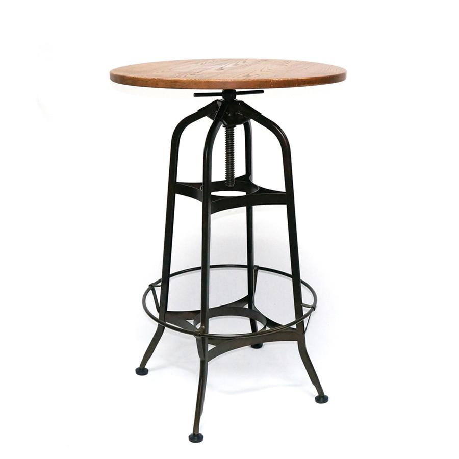 Industrial High Top Table: Bar Furniture Toledo Adjustable Height Industrial High Bar