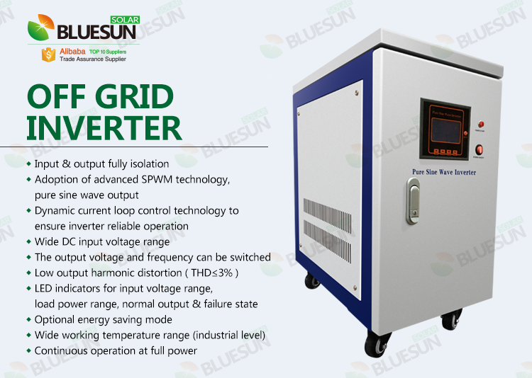 Bluesun Easy Install Off Grid 30kw Inverter For Solar Home