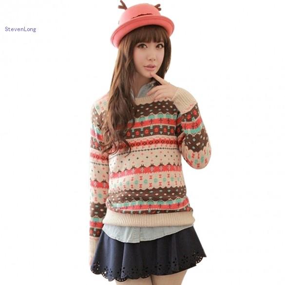 2014 New On Sale Lady Winter Sweater Women Slim O Neck ...