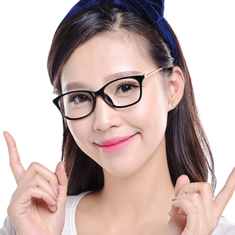 bfa679e71d Vintage Retro Glasses Frame Women Diamond Sexy Cat Eye Eyeglasses Clear Lens