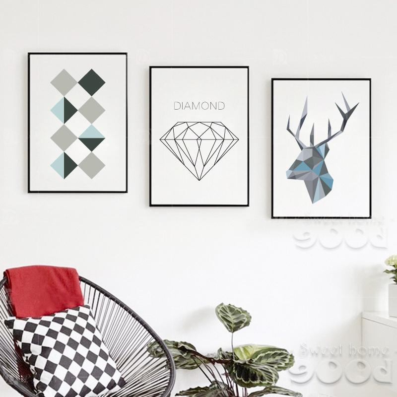 Home Decor Samples: Sample Geometric Shape Canvas Art Print Painting Poster