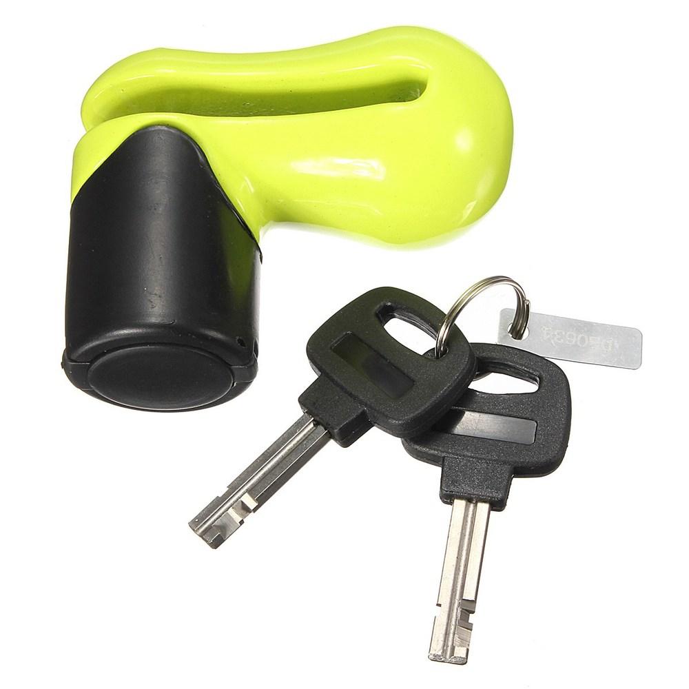 Audew 1x универсальный мото мотоциклов / толчок велосипеды / мопед / скутер диск диск замок водонепроницаемый чехол