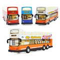 Alloy warrior deluxe double decker bus sightseeing bus model light music children s toy car model