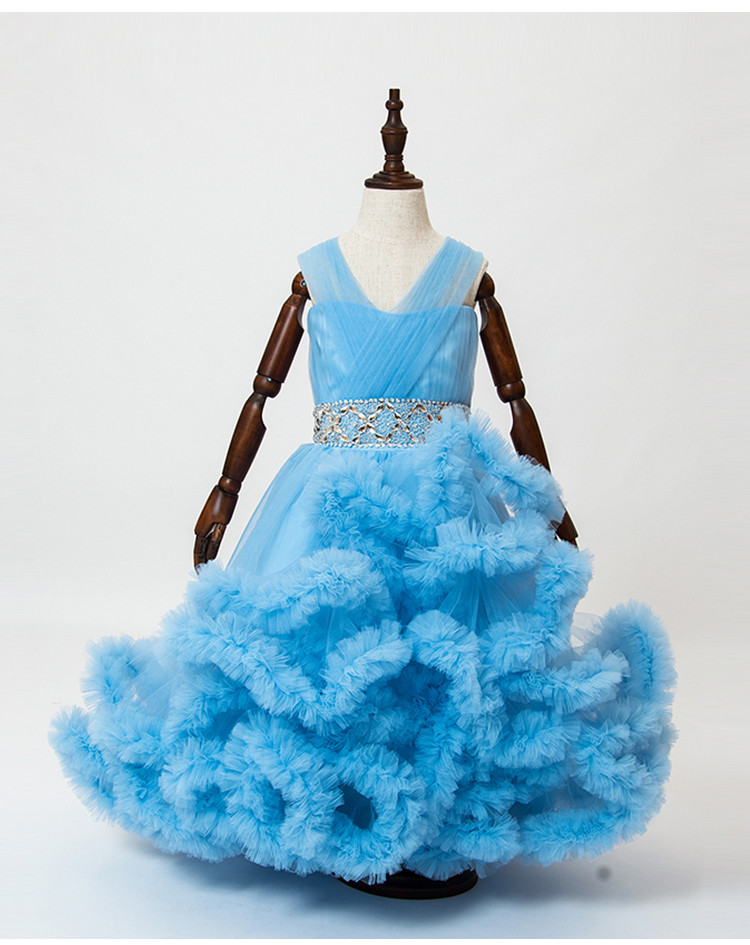 Cloud little flower girls dresses for weddings Baby Party frocks sexy children images Dress kids prom dresses evening gowns 2016 17