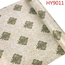 Papel де parede 3d Роскошные Дамасские обои ПВХ настенная бумага стикер самоклеющаяся пленка для отеля гостиной настенный Декор(Китай)