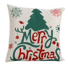 Intimate Merry Christmas & Cute Christmas Santa Claus Bed Home Pillow cushion Case Cover papai noel Sunshine