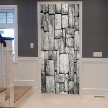 3D настенные наклейки на дверь-водостойкие самоклеющиеся наклейки на двери с пейзажем, настенные фрески, Съемные Наклейки на дверь(Китай)