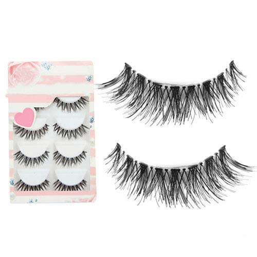2aa19f51027 ... Eye Lashes Extension Tools. 5 Pairs Hot Transparent Black Messy Cross False  Eyelashes Soft Bigeye Long Thick Natural Makeup Fake