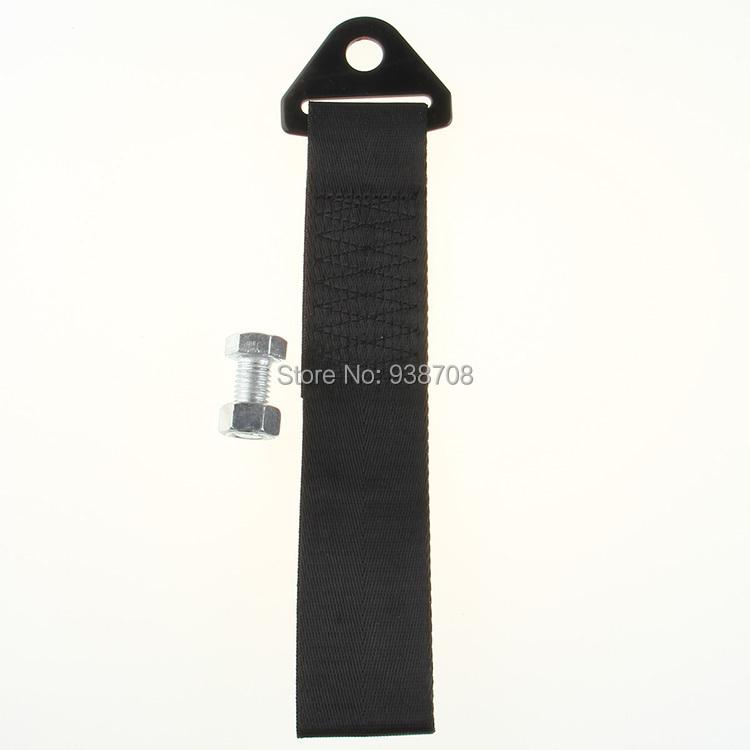Универсальный гонки автоэвакуация веревки буксировочный трос комплект для передний задний бампер крюк / SUV черный