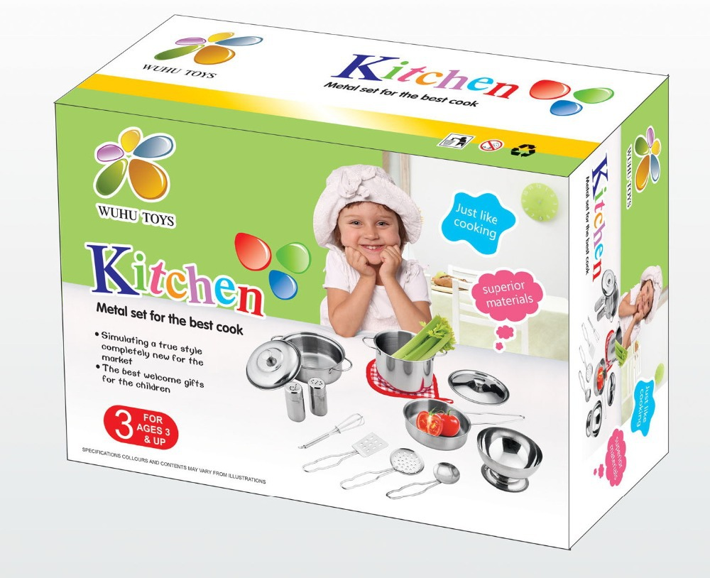 Children S Kitchen Play Set Stainless Steel Pieces