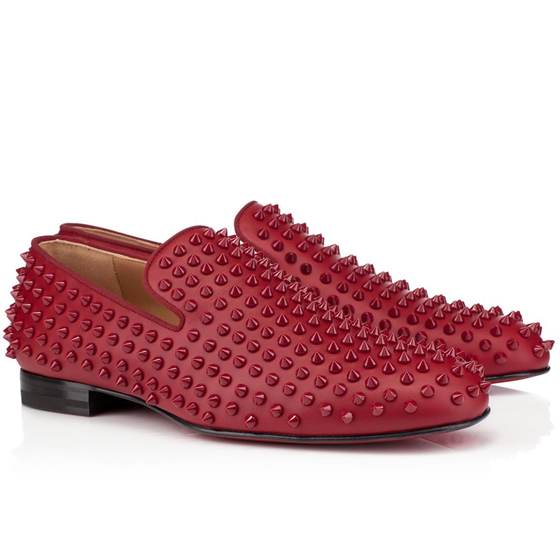 Red Bottom Shoes With Spikes For Men