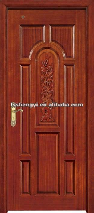 classical wooden single door designs for room