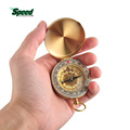 2016 Hot Sale Outdoor Sports Camping Hiking Portable Brass Pocket Golden Multifunction Fluorescence Compass Navigation 2503037