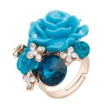 Модные кольца из смолы, винная Роза, для женщин, индивидуальные национальные ювелирные изделия со стразами, регулируемое женское кольцо для...(Китай)