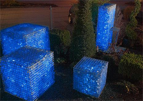 Natural Clear Colored Cobalt Blue Slag Glass Rocks For