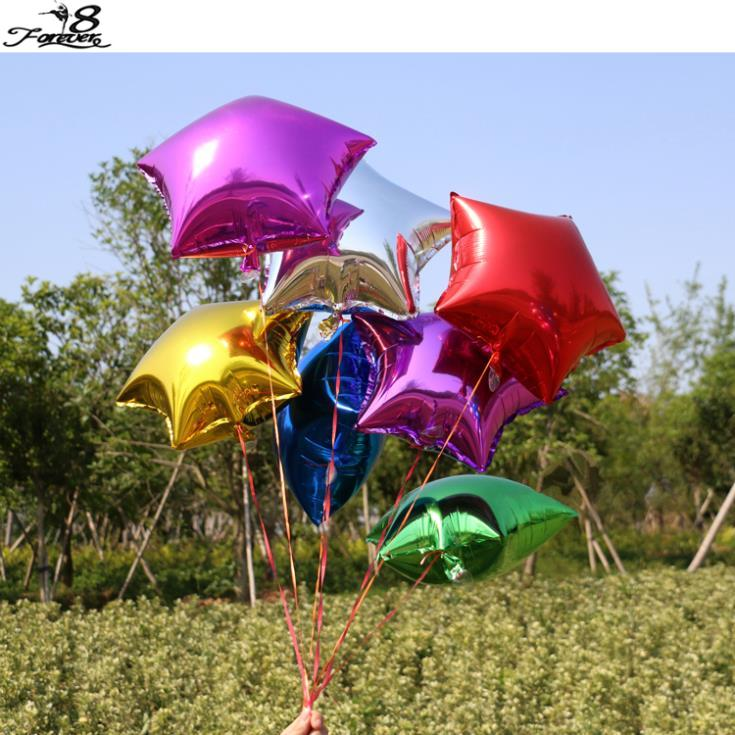 10pcs 18 Inch 45cm Foil Star Balloon 7 Colors To Choose Helium Metallic Wedding Free Shipping