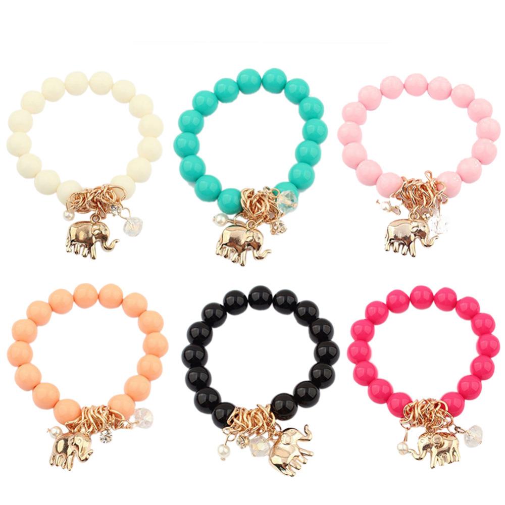 Бусины браслет Elephant форма кулон браслет для женщины имитация драгоценный камень браслеты и браслеты уникальный ювелирные изделия