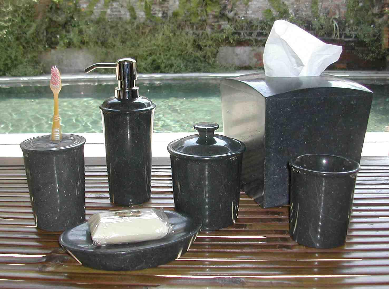 Black marble bathroom accessories buy bath sets product - Black marble bathroom accessories ...