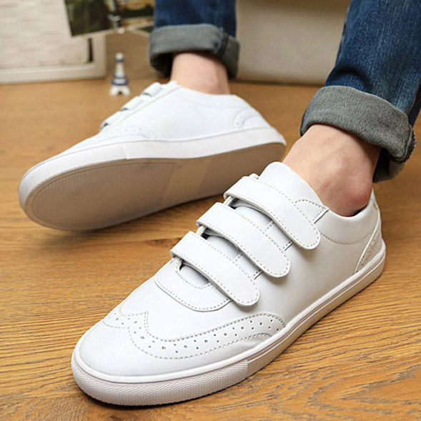British Style Fashion Casual Velcro Shoes For Men And ...