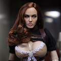 CGL 1 6 Scale Female head Angelina Jolie Sculpt F 12 Hot Toys Phicen Female Action