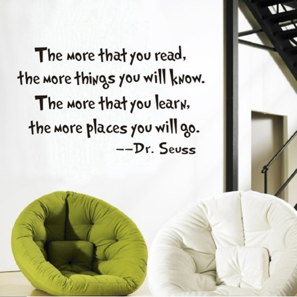Inspirational Dr. Seuss Quotes Wall Stickers Removable Decal Home Decor