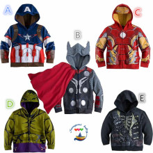 Retails Free shipping The Avengers, Iron Man Children Hoodies Sweatshirt Boys Girls Autumn Coat Kids Casual Outwear Clothing