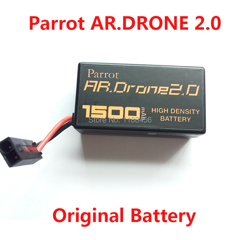 original parrot ar drone 2 0 battery 1500mah 11 1v li po powerful battery free shipping in parts. Black Bedroom Furniture Sets. Home Design Ideas