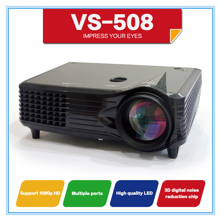 Lcd Vs Led Tv: LCD LED Projector VS508 800*480 Full HD Home Theater