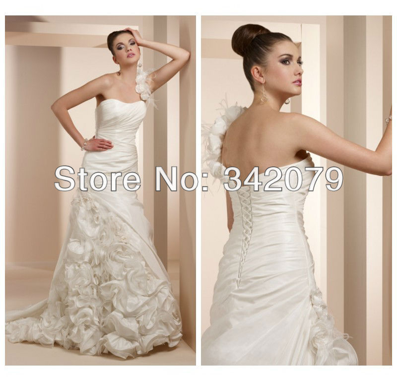 Popular Rosette Wedding Dresses-Buy Cheap Rosette Wedding