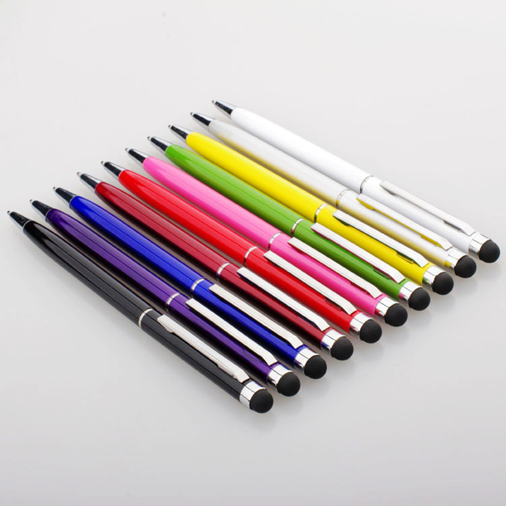 High Quality Mini Metal Capacitive Touch Pen Stylus Screen For Phone Tablet Laptop Built in Ballpoint