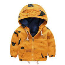 Fashion boys clothes jacket coat autumn winter jacket for baby kids cotton fish print hoodies coat children boys tops outwear
