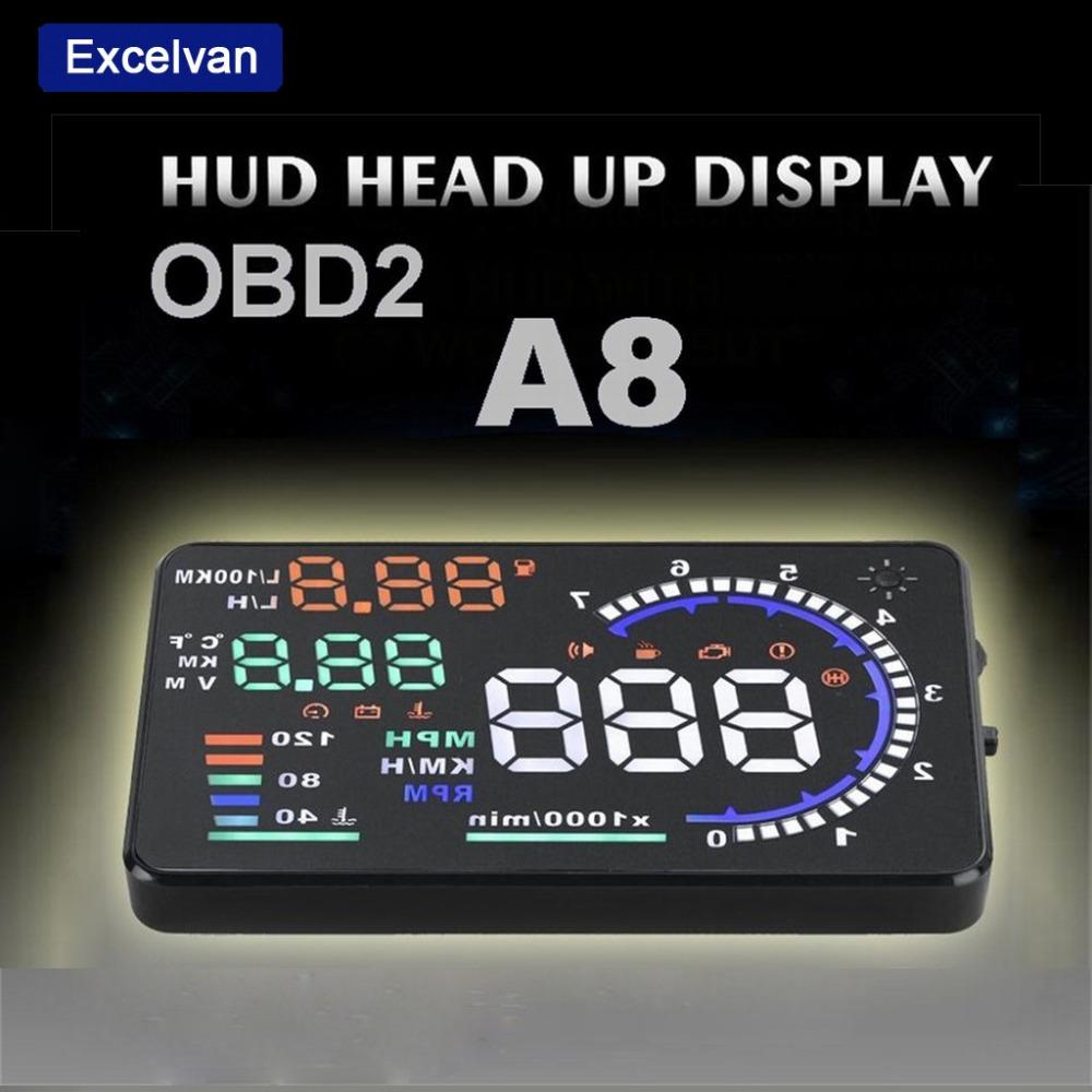 excelvan a8 5 5 auto car head up display hud. Black Bedroom Furniture Sets. Home Design Ideas