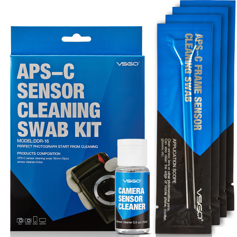 ВСГО Профессиональный APS-C Объектив Камеры/Датчик Cleaning Kit С Жидкостным Датчиком/Чистки Линз и Решение + Очистки Тампона для DSLR