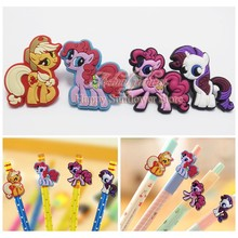 4PCS My Little Ponies Action Figures PVC Pencil Topper Pen refill School Supplies Kids Birthday Party Gifts