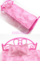 Free Shipping ONE Set Doll Accessories Pink Mini Doll Bed Furniture For Barbie Doll House Baby