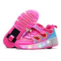 2016 Child Heelys wheelys Girls Boys LED Light Heely shoes Children Roller Skate kids Sneakers With