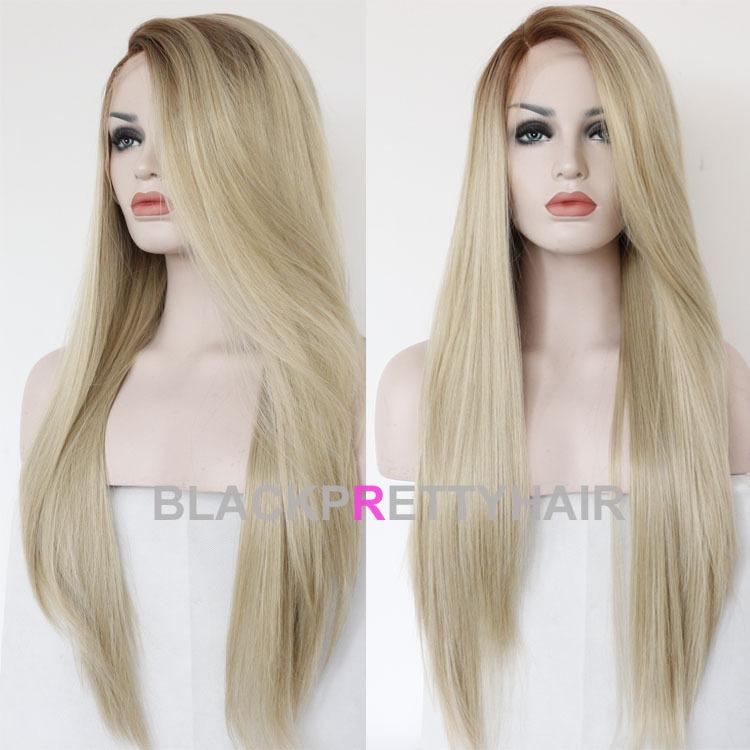 Long Straight Blonde Hair 96